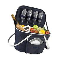 Picnic at Ascot Collapsible Insulated Picnic Basket for 4 in
