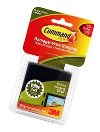Command Medium Picture Hanging Strips, Black, 6-Picture