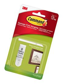 Command Picture Hanging Strips, Small, White, 8-Strips