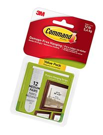 Command Picture Hanging Strips Value Pack, Medium, White, 12
