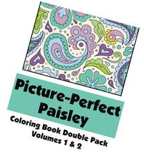 Picture-Perfect Paisley Coloring Book Double Pack