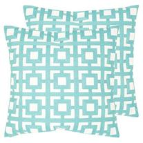 Safavieh Pillow Collection Throw Pillows, 18 by 18-Inch,