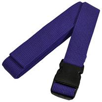 YogaAccessories 8' Pinch Buckle Cotton Yoga Strap - Purple