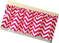 Hot Pink Chevron Valance Curtain, Girl Baby Nursery window