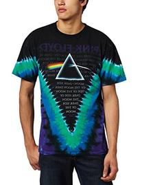 Liquid Blue Men's Pink Floyd Dark Side V-Dye T-Shirt, Multi, Large