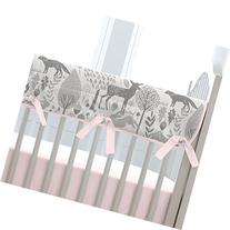 Carousel Designs Pink and Gray Woodland Crib Rail Cover