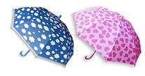 Rainstoppers Girls Pink Hearts & Blue Clouds Umbrellas, 2-