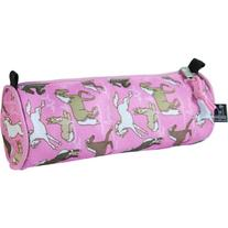 Pink Pencil Case with Horses