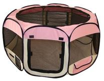 Pink Pet Tent Exercise Pen Playpen Dog Crate XS by BestPet