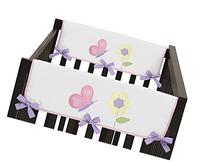 Pink and Purple Butterfly Teething Protector Cover Wrap Baby