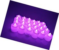 24pcs Pink Purple Flickering Flameless LED Candle Lights For