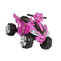 Pink Kids Ride On ATV Quad 4 Wheeler 12V Battery Electric Power Led Lights Music