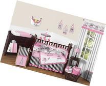 Sweet Jojo Designs 9-Piece Pink, Black and White Stripe