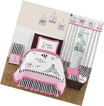 Pink, Black and White Stripe Paris 4 Piece Childrens and