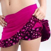 Pizzazz Girls Hot Pink Superstar Ruffle Skirt Shorts Dance