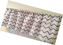 Pink and two shades & grey Chevron Valance Curtain Baby Girl