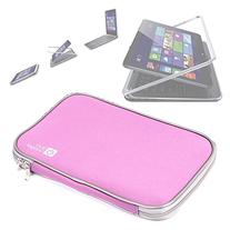 Pink Water & Shock Resistant Soft Case With Dual Zips For
