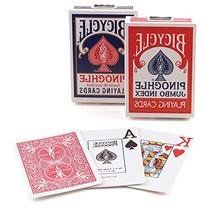 Bicycle Pinochle Jumbo Index Playing Cards: 12 Decks of