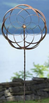 Ancient Graffiti Pinwheel Flower Stake