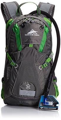 High Sierra Piranha Hydration Pack, Charcoal/Kelly, 10-Liter