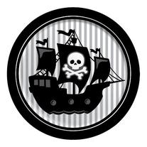 Creative Converting Pirate Parrty Round Dinner Plates, 8