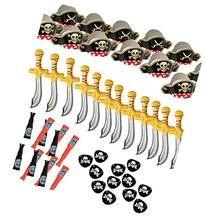 Pirate Party Set -12 Pirate Hats,Patches ,Swords,Telescopes