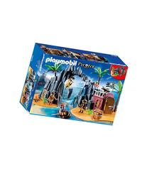 Playmobil Pirate Treasure Island Play Set-MULTI-One Size