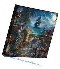 """Pirates of the Caribbean Thomas Kinkade Disney 14""""x14"""""""
