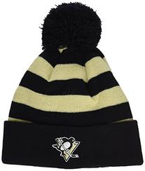NHL Pittsburgh Penguins All Striped Out Knit Hat, One Size,