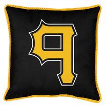 MLB Pittsburgh Pirates Sidelines Toss Pillow, 17 x 17, Black