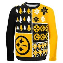 NFL Pittsburgh Steelers Busy Block Ugly Sweater, Large,