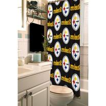Pittsburgh Steelers Fabric Shower Curtain