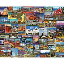 White Mountain Puzzles Best Places In America - 1000 piece