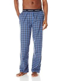Ben Sherman Men's Plaid Woven Sleep Pant, Directoire Blue,
