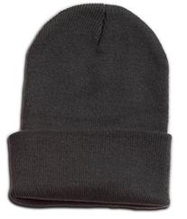 Eforstore Plain Blank Long Cuff Beanie Cap Solid Winter Hat