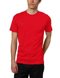 Fred Perry Men's Plain Crew Neck T-Shirt, Vintage Red, XX-