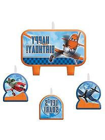 1 X Disney Planes 2 Birthday Candle Set - 4 pcs
