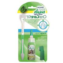 Tropiclean Fresh Breath Dental Care Kit For Large Dogs, 2 oz