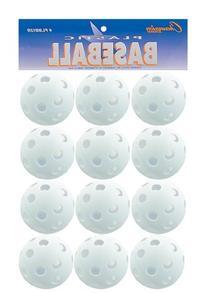 Plastic Baseballs 9 White 12 per set