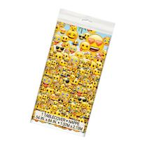 "Plastic Emoji Table Cover, 84"" x 54"