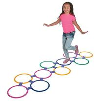Plastic Hopscotch Outdoor Ring Game - 25 piece set by OTC