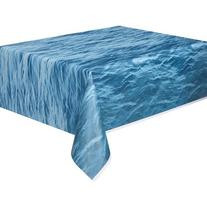 "Plastic Ocean Waves Printed Table Cover, 108"" x 54"