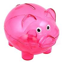 uxcell Plastic Pig Shape Money Cash Saving Pot Coin Piggy