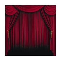 Fun Express Red Curtain Backdrop Banner Decoration