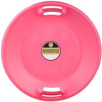 """Lucky Bums 25"""" Diameter Plastic Saucer Sled, Pink"""