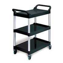 Rubbermaid Economy Plastic Cart, 3-Shelf, 200 Pounds, 18-5/8