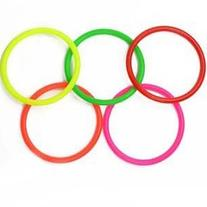 Cosmos 10 pcs Small Size Plastic Toss Rings for Speed and