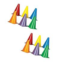 """EF Products Plastic Traffic Cones, Assorted Colors, 8-1/2"""","""