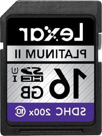 Lexar Platinum II 200x 16GB SDHC UHS-I Flash Memory Card