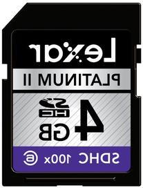 Lexar Platinum II 4 GB 100x SD/SDHC Flash Memory Card